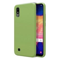 Funda Silicona Líquida Ultra Suave para Samsung Galaxy A10 color Verde