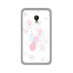 Funda Gel Tpu para Orange Rise 51 / Alcatel Pixi 4 (5) 4G / Vodafone Smart Turbo 7 Diseño Flores-Minimal Dibujos