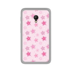 Funda Gel Tpu para Orange Rise 51 / Alcatel Pixi 4 (5) 4G / Vodafone Smart Turbo 7 Diseño Flores Dibujos