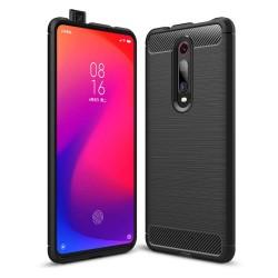 Funda Gel Tpu Tipo Carbon Negra para Xiaomi Mi 9T / Mi 9T Pro