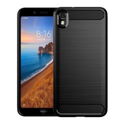 Funda Gel Tpu Tipo Carbon Negra para Xiaomi Redmi 7A