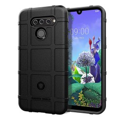 Funda Armor Rugged Shield Antigolpes para Lg Q60 / K50 color Negra