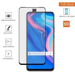 Protector Cristal Templado Completo 5D Full Glue Negro para Huawei P Smart Z Vidrio