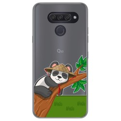 Funda Gel Transparente para Lg Q60 / K50 diseño Panda Dibujos