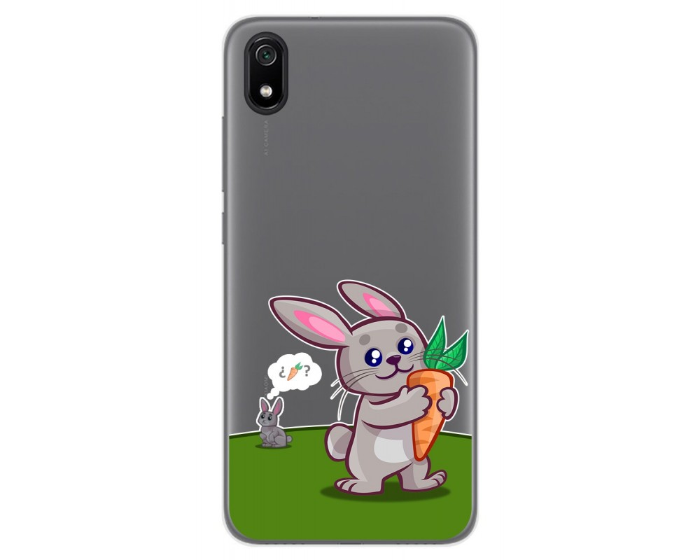 Funda Gel Transparente para Xiaomi Redmi 7A diseño Conejo Dibujos