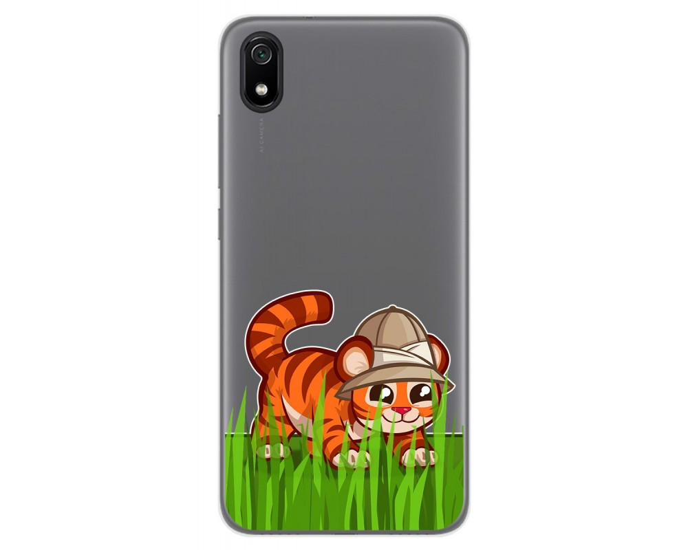 Funda Gel Transparente para Xiaomi Redmi 7A diseño Tigre Dibujos
