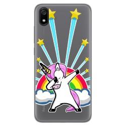 Funda Gel Transparente para Xiaomi Redmi 7A diseño Unicornio Dibujos
