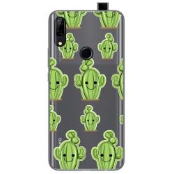 Funda Gel Transparente para Huawei P Smart Z diseño Cactus Dibujos