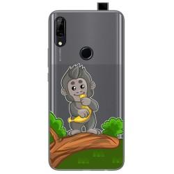 Funda Gel Transparente para Huawei P Smart Z diseño Mono Dibujos