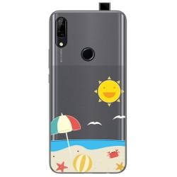 Funda Gel Transparente para Huawei P Smart Z diseño Playa Dibujos
