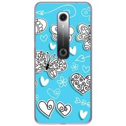 Funda Gel Tpu para Vodafone Smart N10 diseño Mariposas Dibujos
