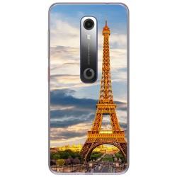 Funda Gel Tpu para Vodafone Smart N10 diseño Paris Dibujos