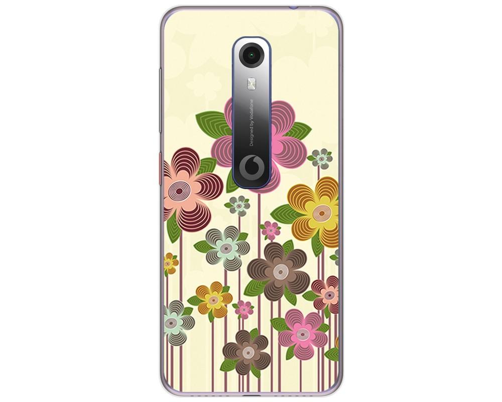 Funda Gel Tpu para Vodafone Smart N10 diseño Primavera En Flor Dibujos