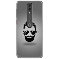 Funda Gel Tpu para Vodafone Smart V10 diseño Barba Dibujos