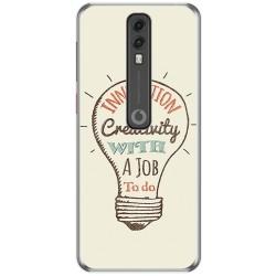 Funda Gel Tpu para Vodafone Smart V10 diseño Creativity Dibujos