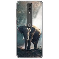 Funda Gel Tpu para Vodafone Smart V10 diseño Elefante Dibujos