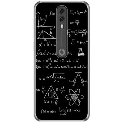 Funda Gel Tpu para Vodafone Smart V10 diseño Formulas Dibujos