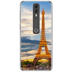Funda Gel Tpu para Vodafone Smart V10 diseño Paris Dibujos