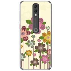 Funda Gel Tpu para Vodafone Smart V10 diseño Primavera En Flor Dibujos
