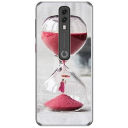 Funda Gel Tpu para Vodafone Smart V10 diseño Reloj Dibujos