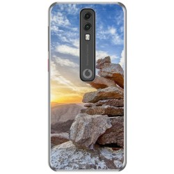 Funda Gel Tpu para Vodafone Smart V10 diseño Sunset Dibujos