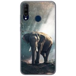 Funda Gel Tpu para Wiko View3 diseño Elefante Dibujos