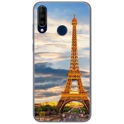 Funda Gel Tpu para Wiko View3 diseño Paris Dibujos