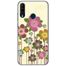 Funda Gel Tpu para Wiko View3 diseño Primavera En Flor Dibujos
