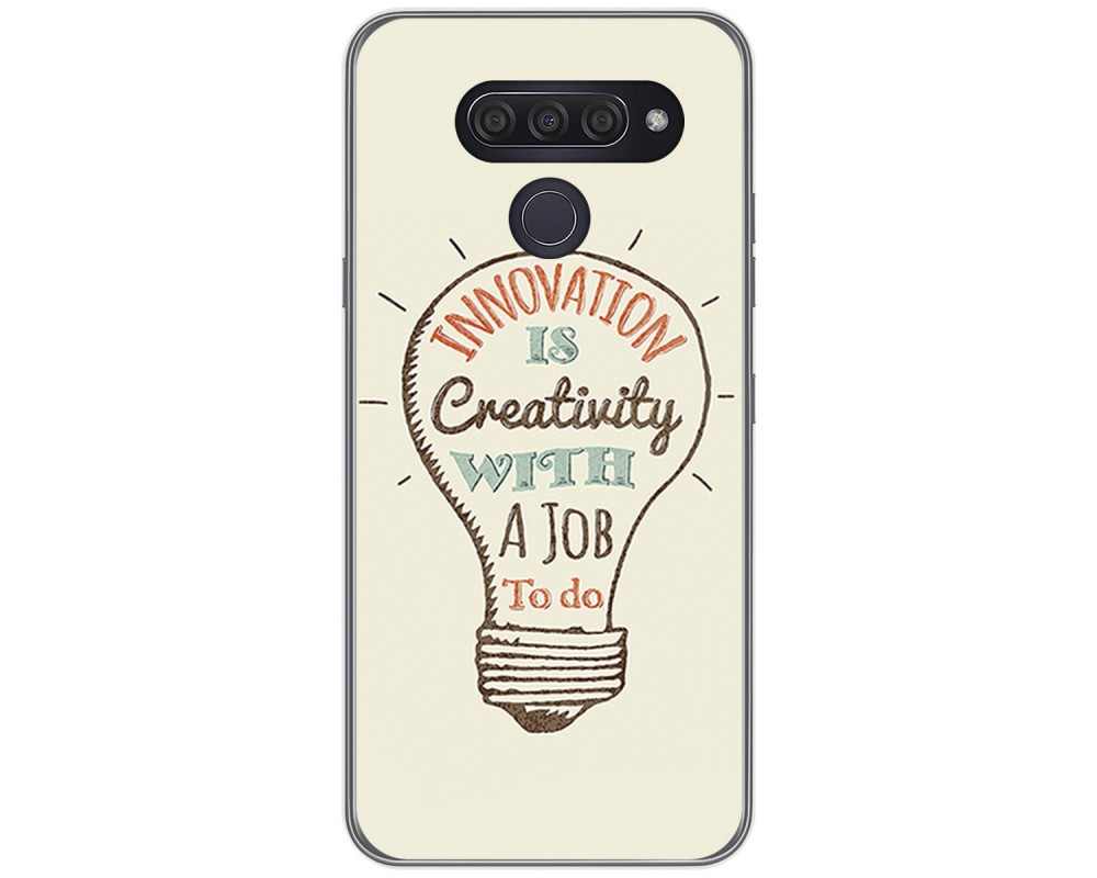 Funda Gel Tpu para Lg Q60 / K50 diseño Creativity Dibujos