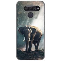 Funda Gel Tpu para Lg Q60 / K50 diseño Elefante Dibujos