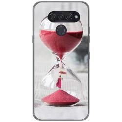 Funda Gel Tpu para Lg Q60 / K50 diseño Reloj Dibujos