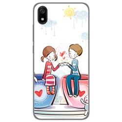 Funda Gel Tpu para Xiaomi Redmi 7A diseño Café Dibujos