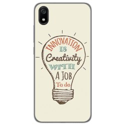 Funda Gel Tpu para Xiaomi Redmi 7A diseño Creativity Dibujos
