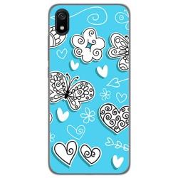 Funda Gel Tpu para Xiaomi Redmi 7A diseño Mariposas Dibujos