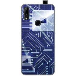 Funda Gel Tpu para Huawei P Smart Z diseño Circuito Dibujos