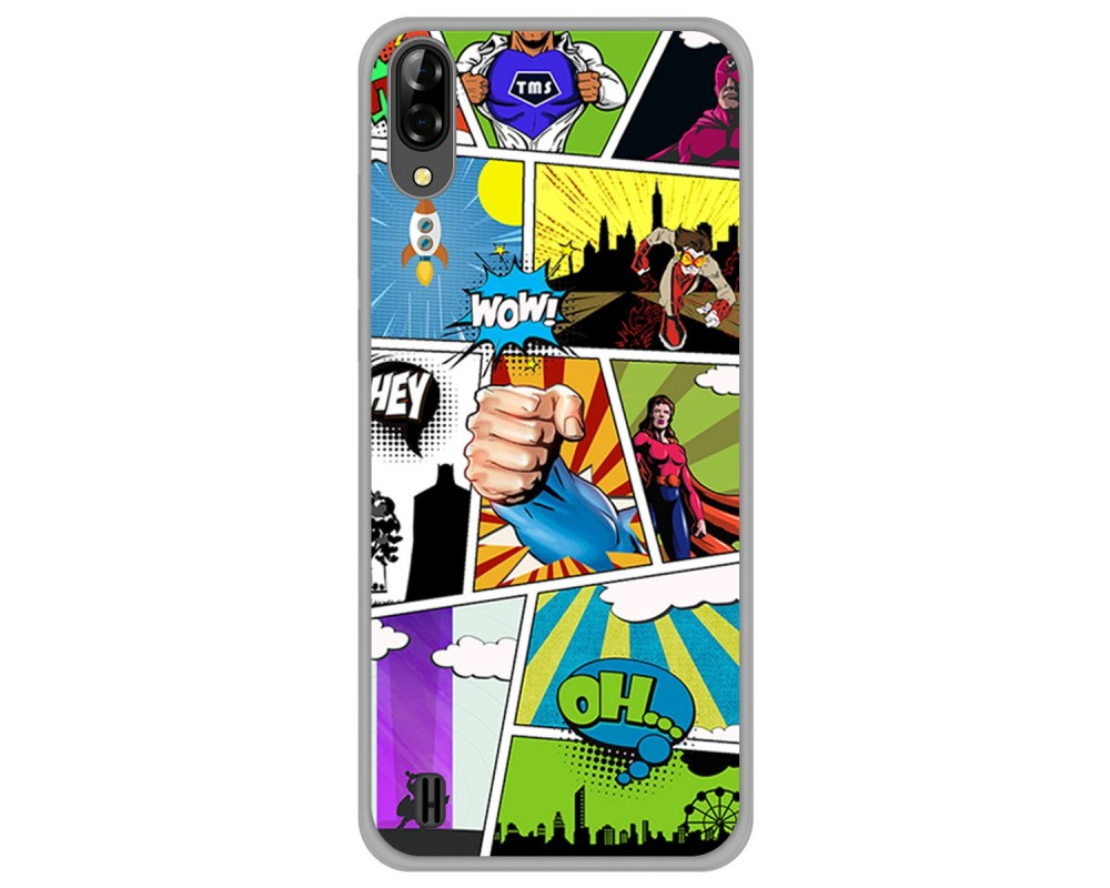 Funda Gel Tpu para Blackview A60 diseño Comic Dibujos
