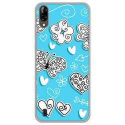 Funda Gel Tpu para Blackview A60 diseño Mariposas Dibujos