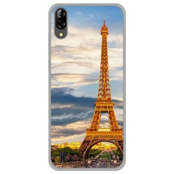 Funda Gel Tpu para Blackview A60 diseño Paris Dibujos