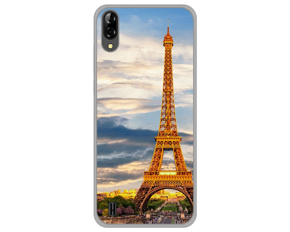 Funda Gel Tpu Silicona dibujo Paris Blackview A60 / A60 Pro |Envio Gratis