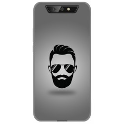 Funda Gel Tpu para Blackview BV5500 / BV5500 Pro diseño Barba Dibujos