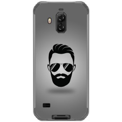 Funda Gel Tpu para Blackview Bv9600 Pro diseño Barba Dibujos