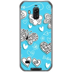 Funda Gel Tpu para Blackview Bv9600 Pro diseño Mariposas Dibujos