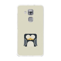 Funda Gel Tpu para Huawei Nova Plus Diseño Pingüino Dibujos