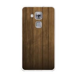 Funda Gel Tpu para Huawei Nova Plus Diseño Madera Dibujos