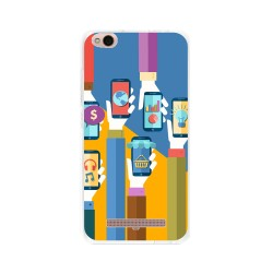 Funda Gel Tpu para Xiaomi Redmi 4A Diseño Apps Dibujos