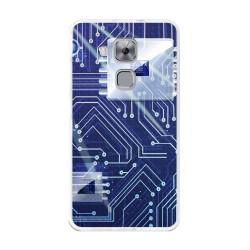 Funda Gel Tpu para Huawei Nova Plus Diseño Circuito Dibujos