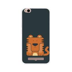 Funda Gel Tpu para Xiaomi Redmi 4A Diseño Tigre Dibujos