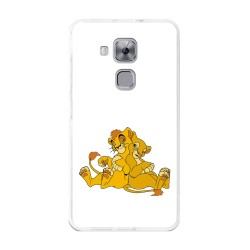Funda Gel Tpu para Huawei Nova Plus Diseño Leones Dibujos