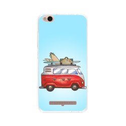 Funda Gel Tpu para Xiaomi Redmi 4A Diseño Furgoneta Dibujos