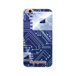 Funda Gel Tpu para Xiaomi Redmi 4A Diseño Circuito Dibujos
